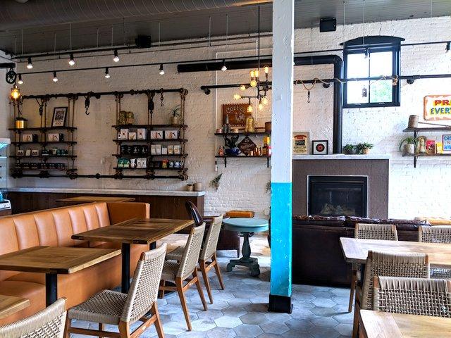 Interior of Fairgrounds Coffee Co. in Minneapolis