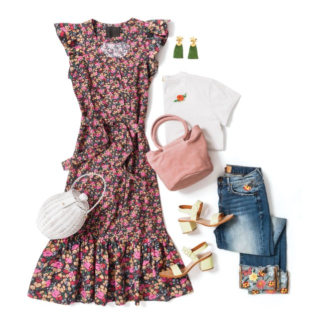 Retro-inspired floral outfit for summer