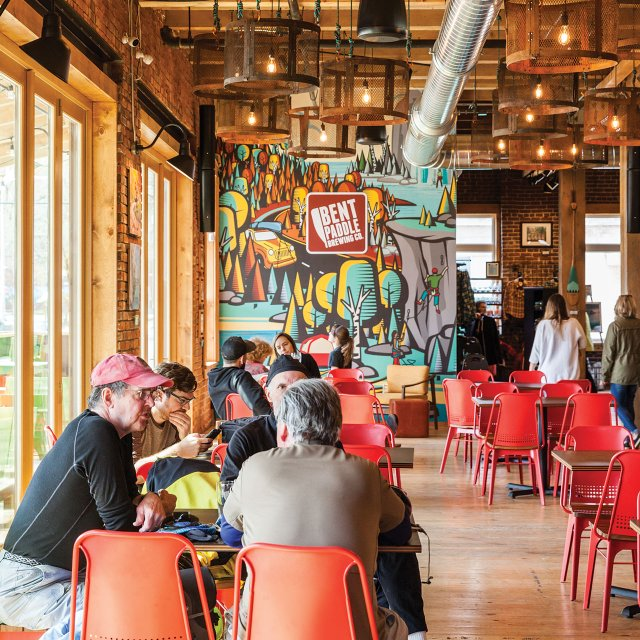Bent Paddle Brewing Company interior