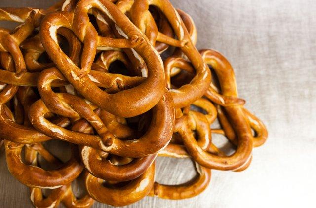 Handmade pretzels at Duluth's Best Bread