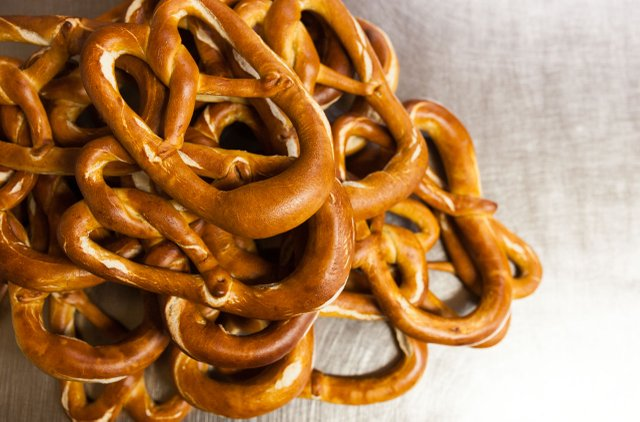 Handmade pretzels at Duluth's Best Bread