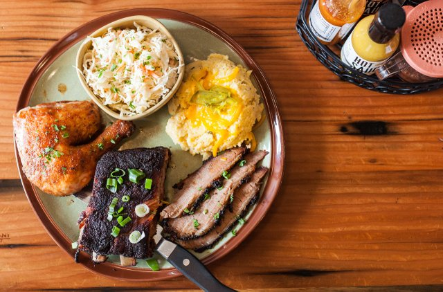 Plate of Barbecue at OMC Smokehouse in Duluth, MN