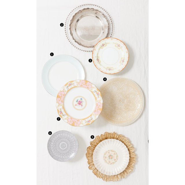 Wedding plates and chargers
