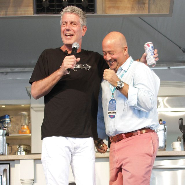 Anthony Bourdain with Andrew Zimmern