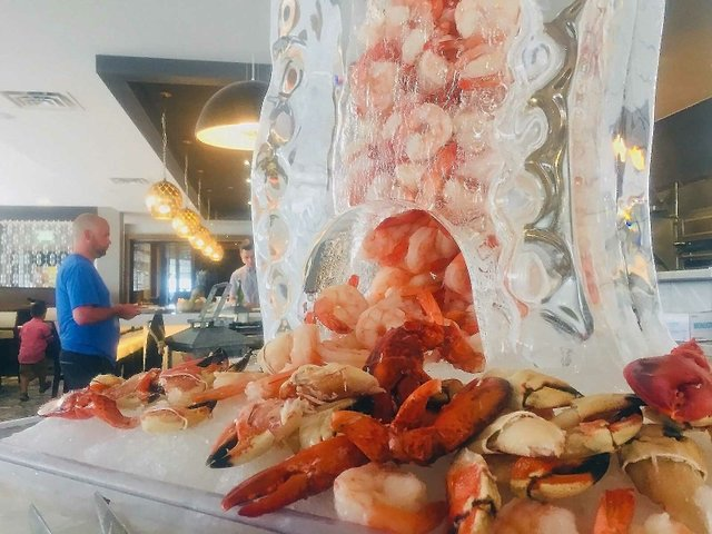 Seafood tower at Lela brunch