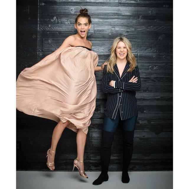Designer Marion Parke with model Hannah