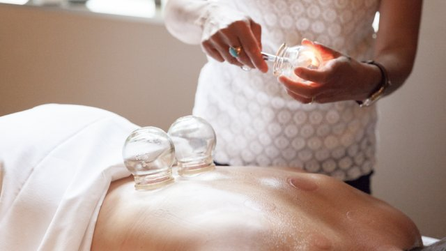 Glass cupping therapy