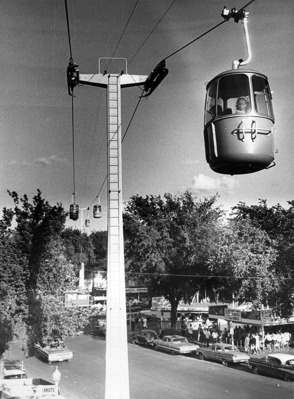 Skyride at the State Fair in the year it opened, 1964