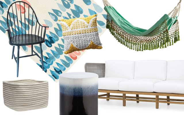 Collage of outdoor furniture.