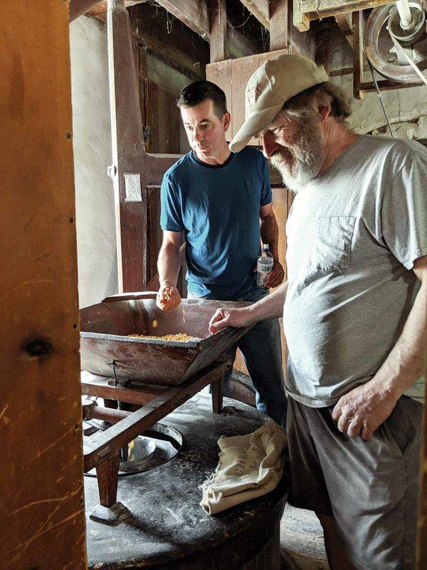 Rockfilter distiller Christian Myrah with miller Ed Krugmire