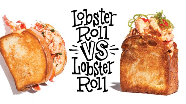 Lobster roll from Smack Shack and lobster roll from Octo Fishbar