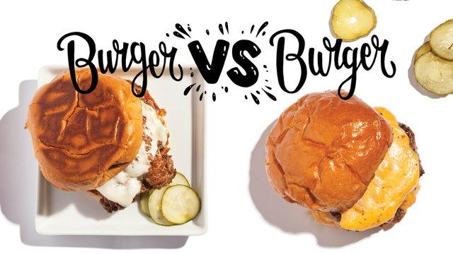 Parlour burger and Saint Dinette burger