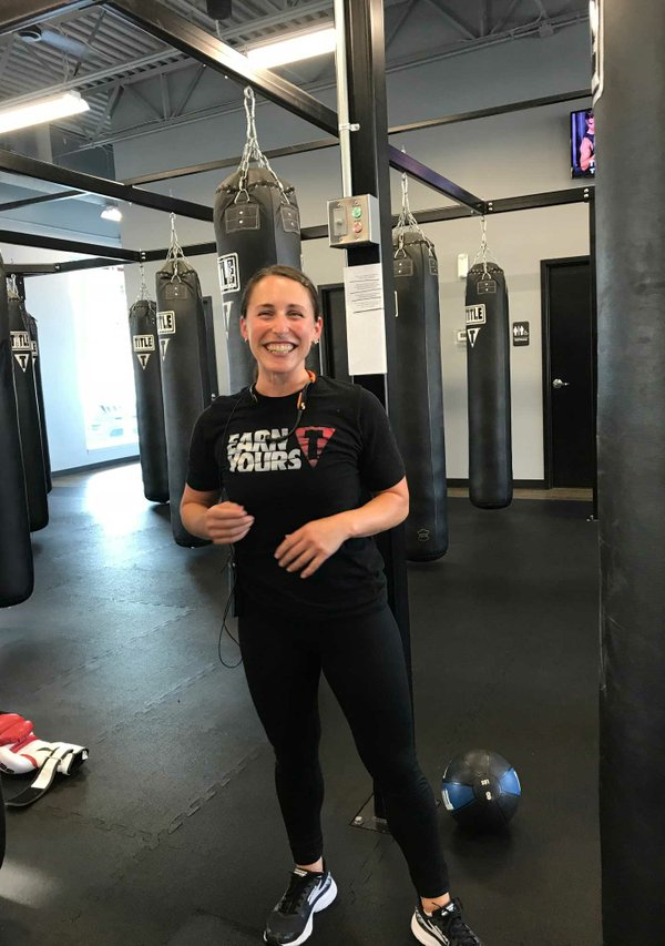 Jessica, a trainer at Title Boxing in Minneapolis
