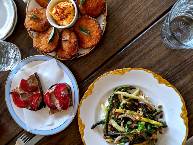 Antipasti dishes at Hyacinth in St. Paul