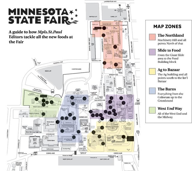 New Minnesota State Fair Foods Map