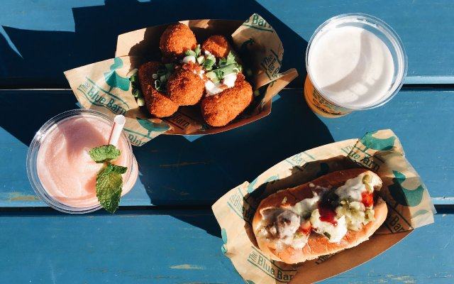 Food at the Blue Barn at the Minnesota State Fair 2018