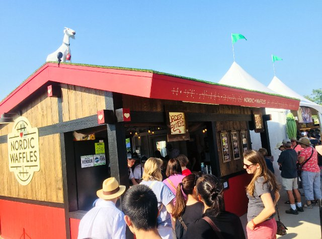 Nordic Waffles vendor at the Minnesota State Fair
