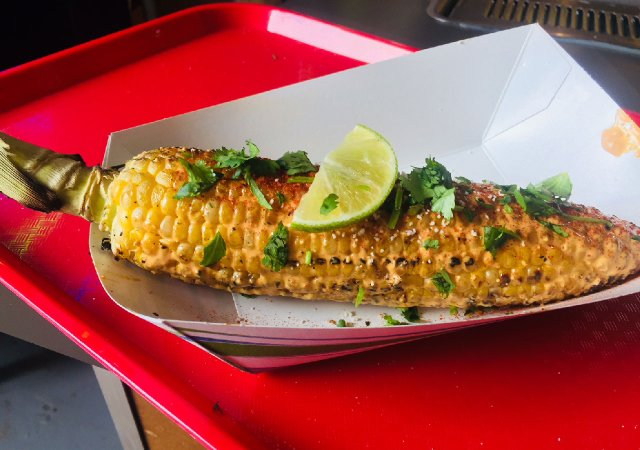 Grilled Elote from Tejas Express at the Minnesota State Fair