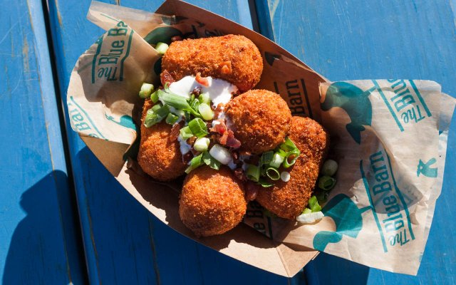 Bacon Stuffed Tots from Blue Barn at the Minnesota State Fair