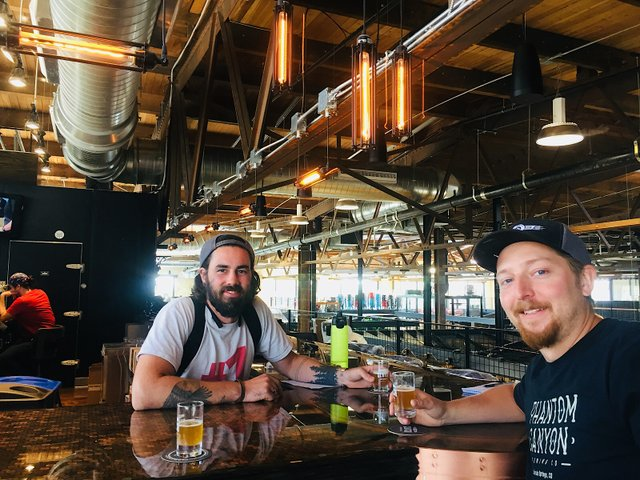 Clutch Brewing founders Max Boeke (left) and Jordan Standish