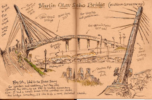 Sketch of the Martin Olav Sabo Bridge