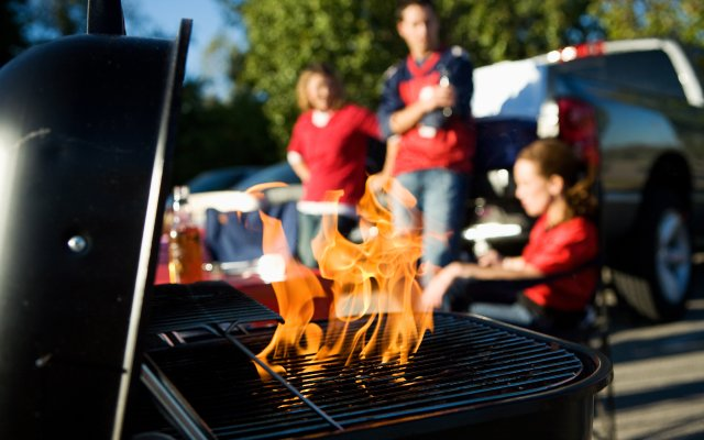 Grill at a tailgate