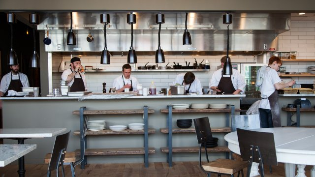 Chefs behind the counter at Heyday