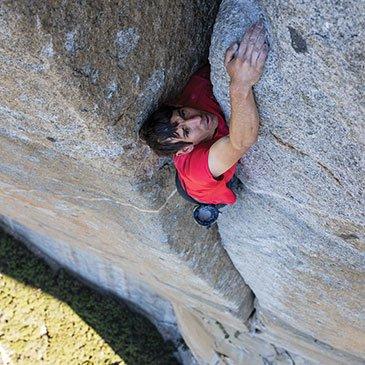 Alex Honnold climbing Yosemite's El Capitan
