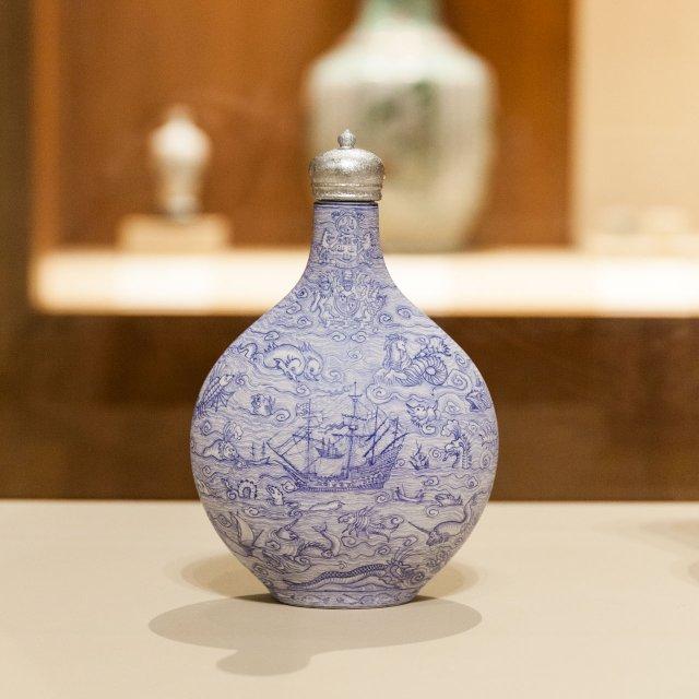 Porcelain vase at the Minneapolis Institute of Art