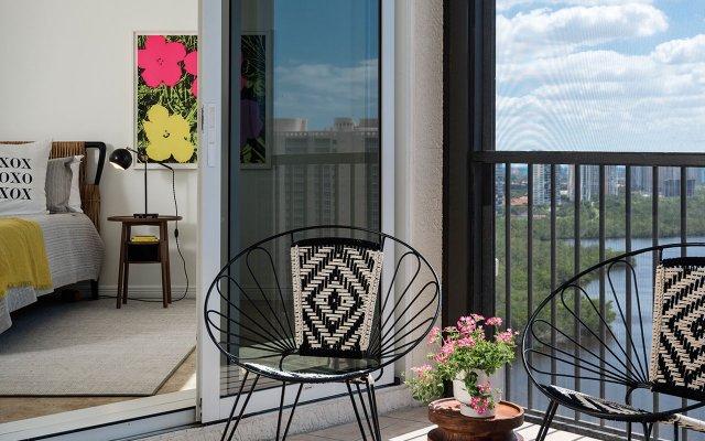 Naples condo bedroom and balcony