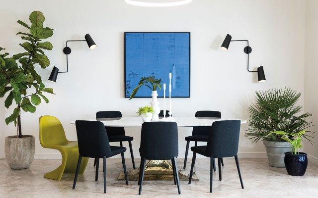 Dining room inside a Naples condo