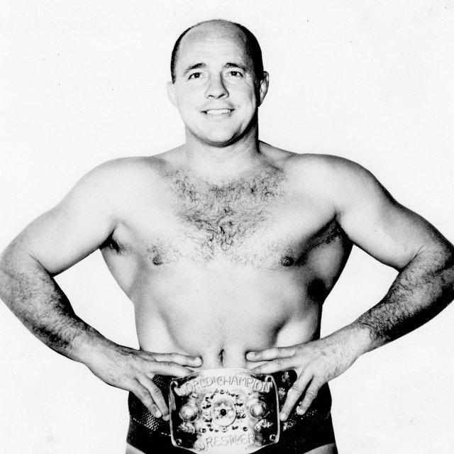 Verne Gagne wearing the belt