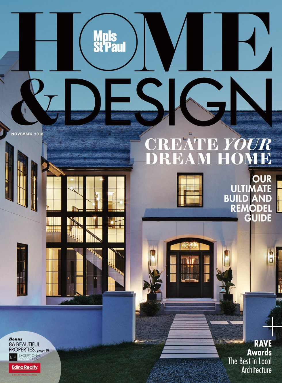 November Home and Design cover