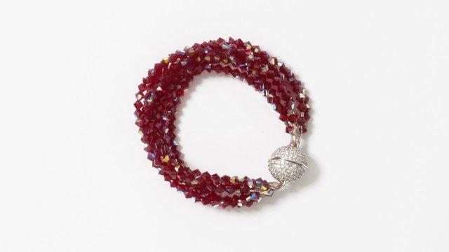 Red jewel magnetic bracelet