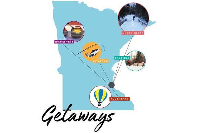 Illustration of Minnesota travel destinations