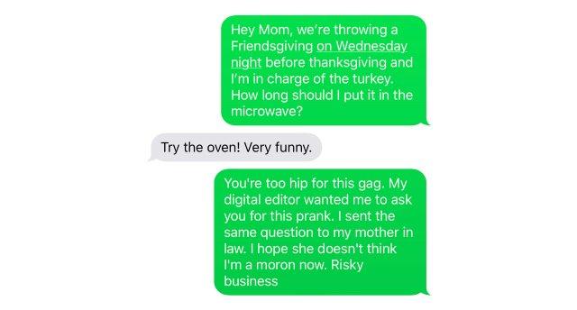 Steve Marsh's mom's text