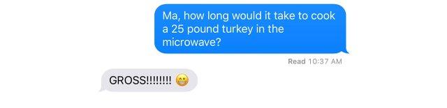 Jamie Korf's mom's text
