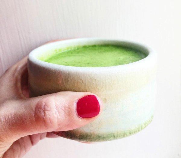 Green broth soup