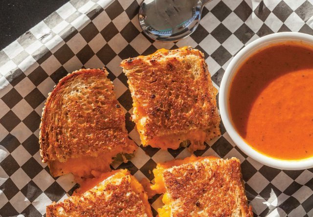 Grilled cheese sandwich at All Square