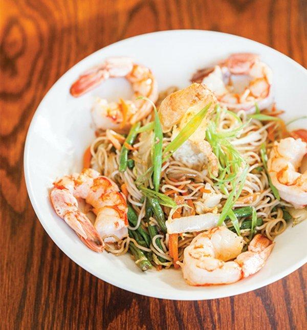 The noodle dish, pancit