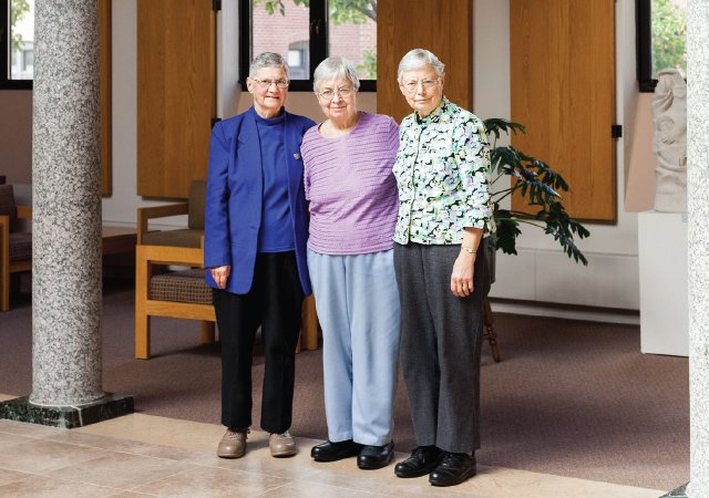 Sisters at the Benedictine monastery at the College of St. Benedict