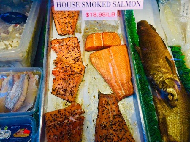 Ingebretsen's house-smoked salmon and whitefish