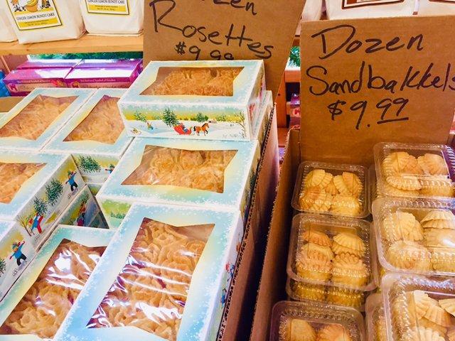 Ingebretsen's cookies, rosettes and sandbakkels