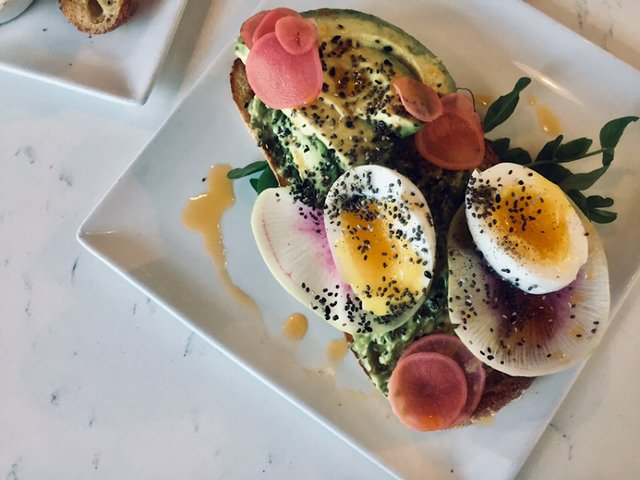 Salty Tart Avocado toast with poached egg