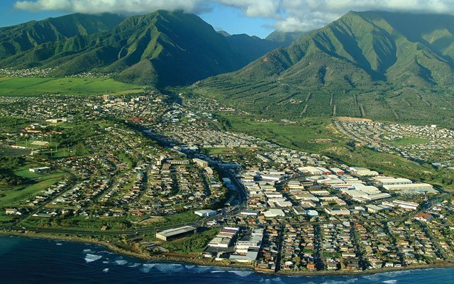 Arial view of Maui