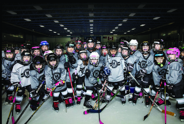 Minneapolis Storm's 8-and-under hockey team