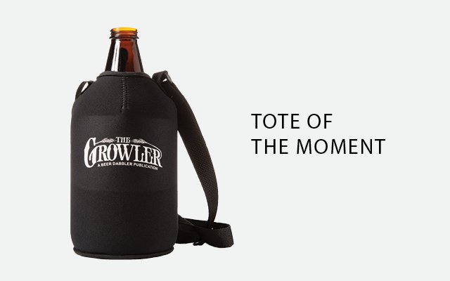 The growler koozie from The Beer Dabbler