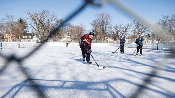 A Pickup Hockey Game