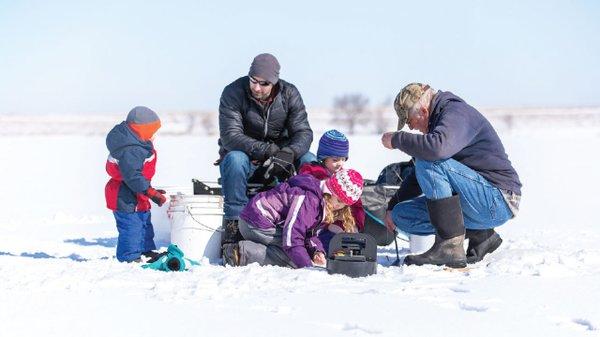 Family Ice-Fishing