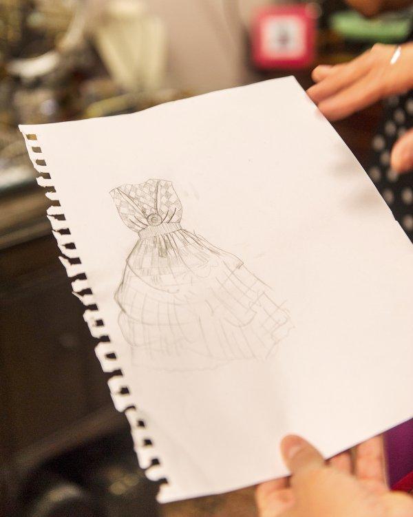 Samantha's original sketch
